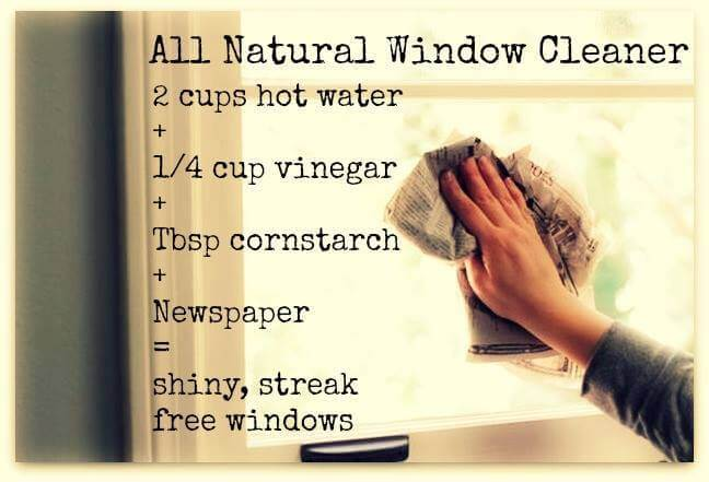 All natural window cleaning