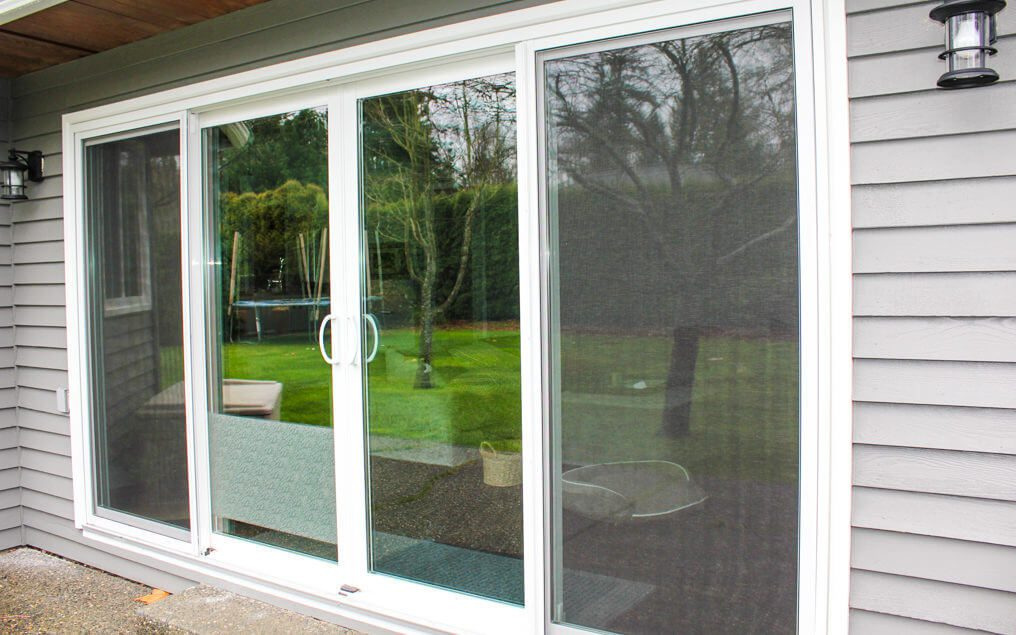 4 panel sliding patio door with screens