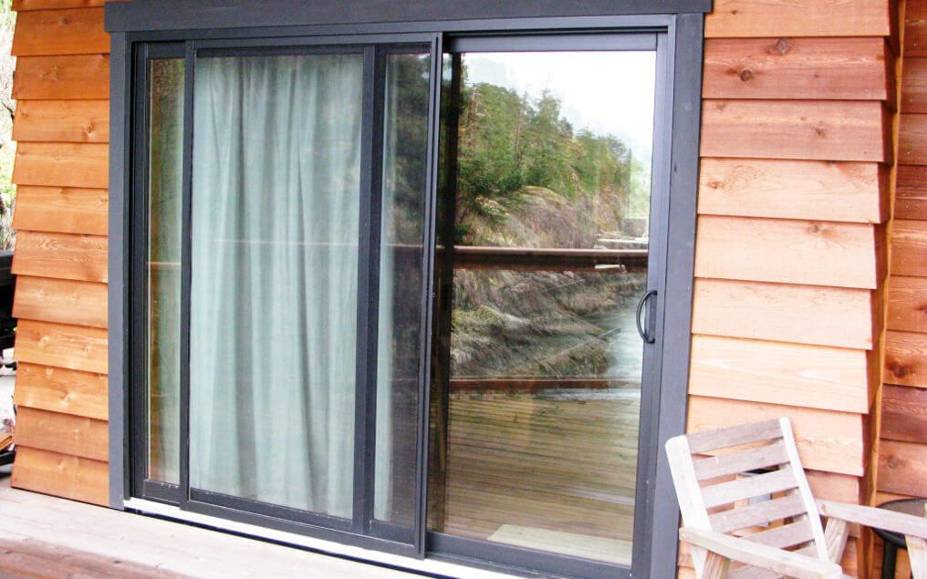 2 panel black energy efficient replacement sliding patio door vinyl
