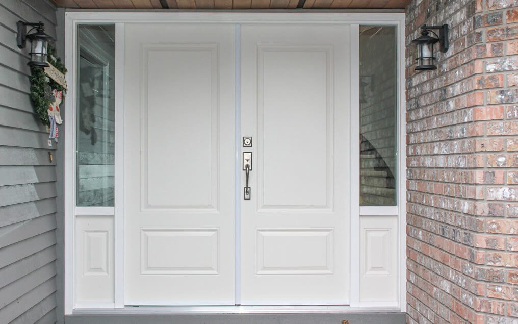 double entry door with sidelites